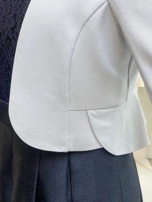 ペプラムジャケットボレロ裾